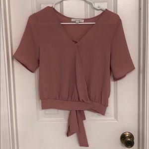 Pale Pink Blouse Back-Tie